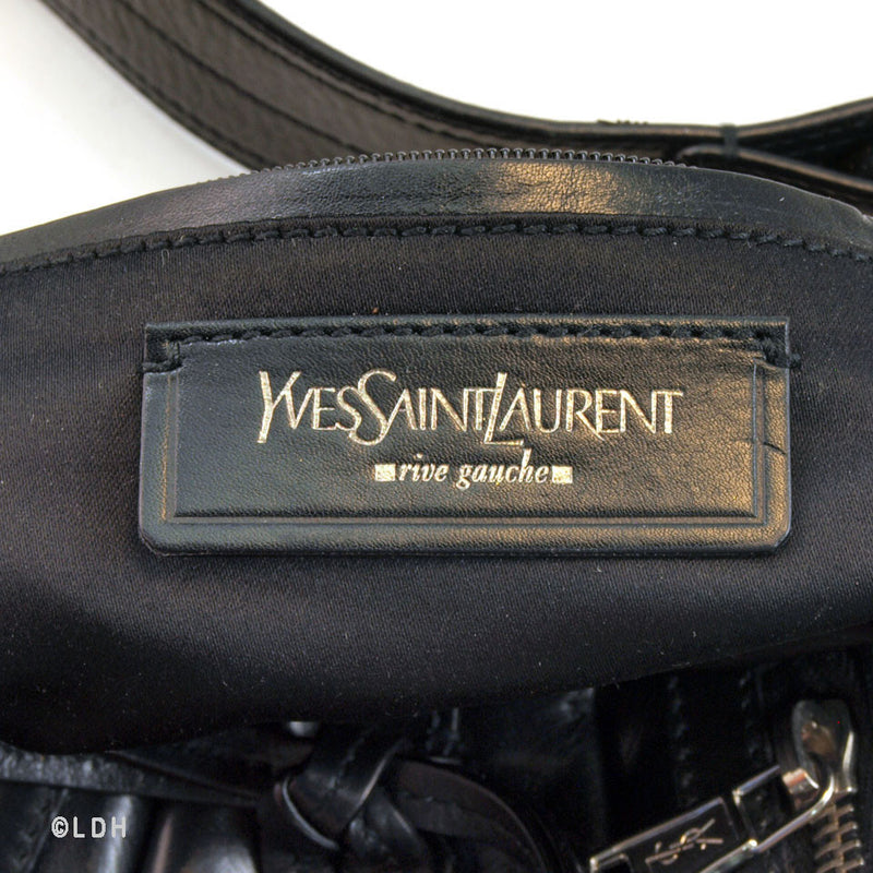 YSL Black Leather Shoulder (Authentic Pre Owned)