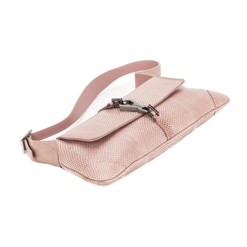 Gucci Pink Snakeskin Pochette (Authentic Pre Owned)