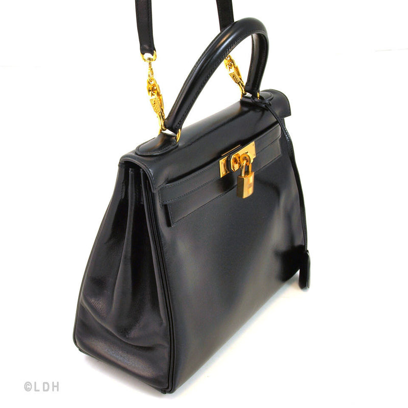 Hermes Black Kelly 28 (Authentic Pre Owned)