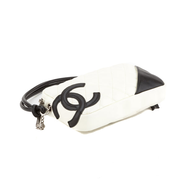 Chanel White and Black Cambon Pochette Bag (Authentic Pre Owned)