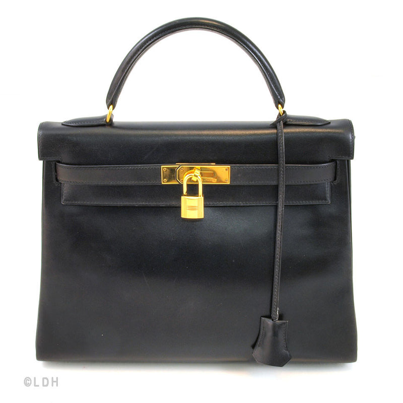 Hermes Black Kelly 32 (Authentic Pre Owned)