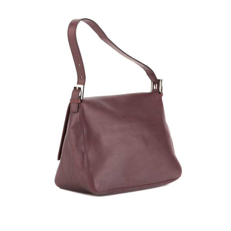 Fendi Bordeaux Nappa Leather Hobo (Authentic Pre Owned)
