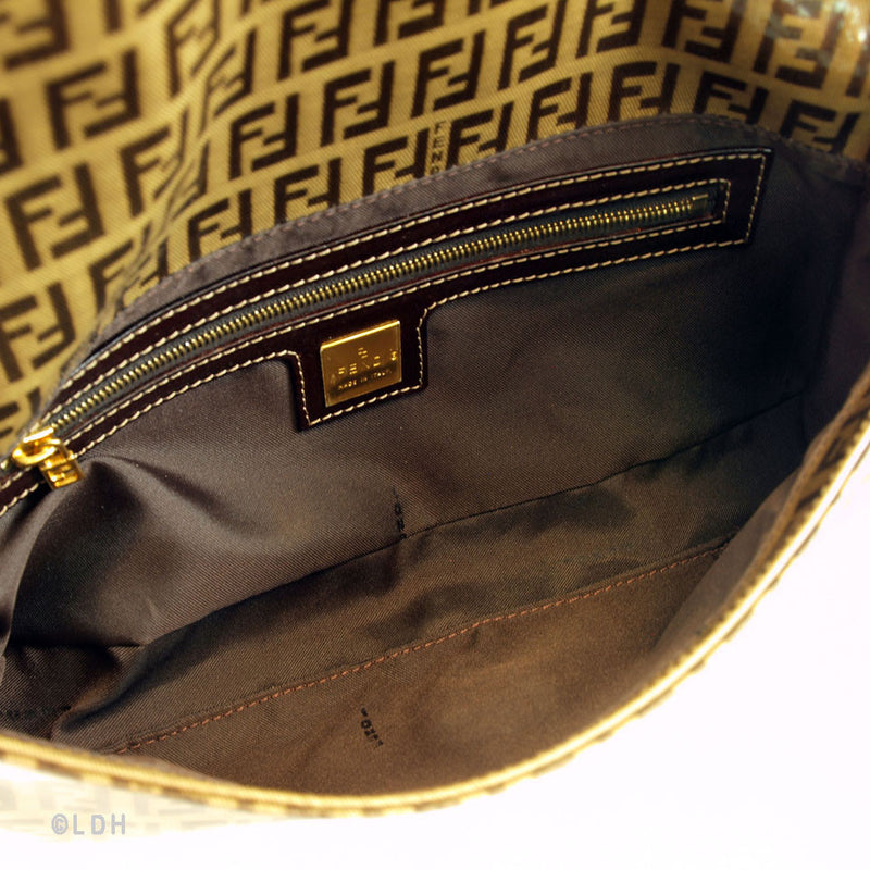 Fendi Coated Canvas Zucca Tote (Authentic Pre Owned)