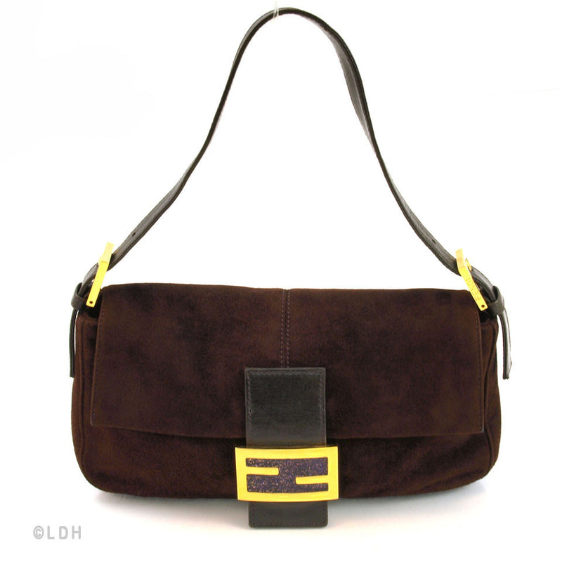 Fendi Suede Shoulder (Authentic Pre Owned)