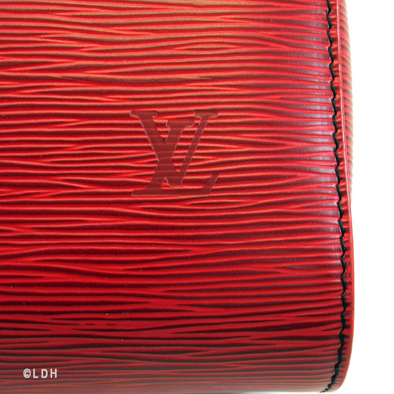 Louis Vuitton Red Epi Speedy 25 (Authentic Pre Owned)