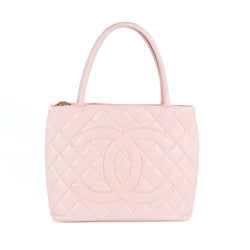 Chanel Pink Caviar Medallion Tote (Authentic Pre Owned)