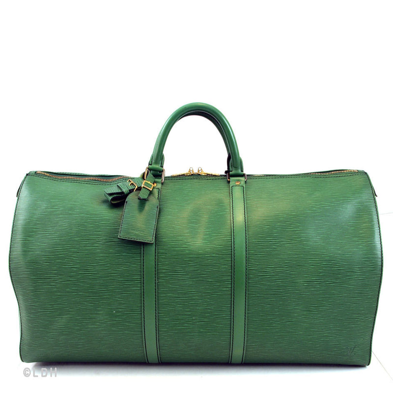 Louis Vuitton Green Epi Keepall 55 (Authentic Pre Owned)