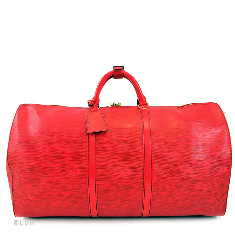 Louis Vuitton Red Epi Keepall 50 (Authentic Pre Owned)