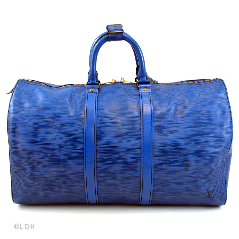 Louis Vuitton Blue Epi Keepall 45 (Authentic Pre Owned)