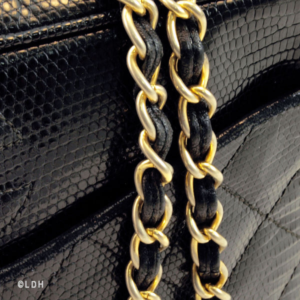 Chanel Black Lizard Tassle (Authentic Pre Owned)