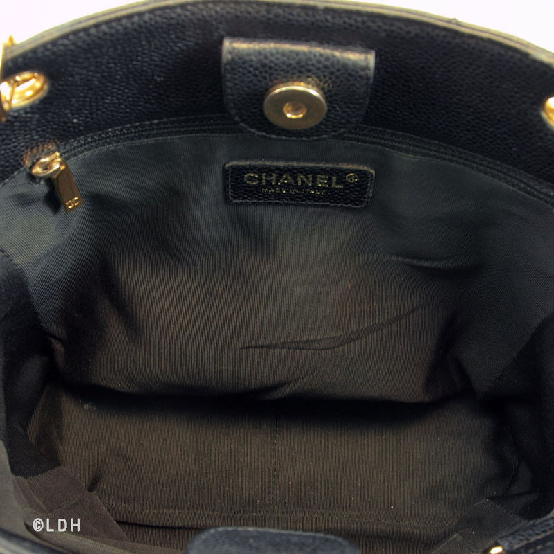 Chanel Caviar Quilted Shopping Tote (Authentic Pre Owned)