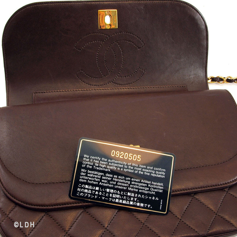 Chanel Brown Double Flap (Authentic Pre Owned)