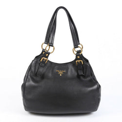 Prada Shoulder Bag Black Leather