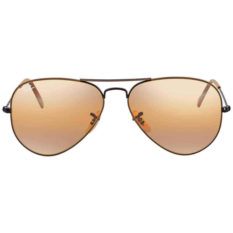 Ray Ban Yellow Gradient Mirror Aviator Sunglasses RB30259153AG58 RB30259153AG58
