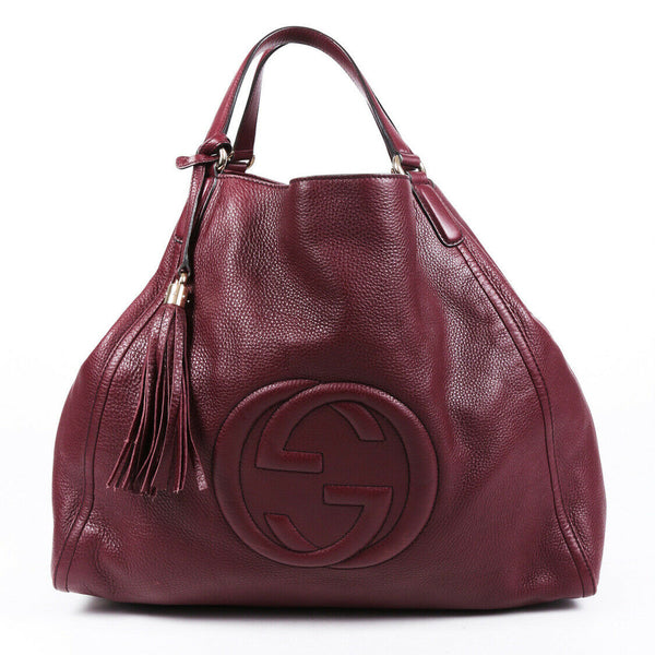 Gucci Bag Soho Large Red Leather GG Tote
