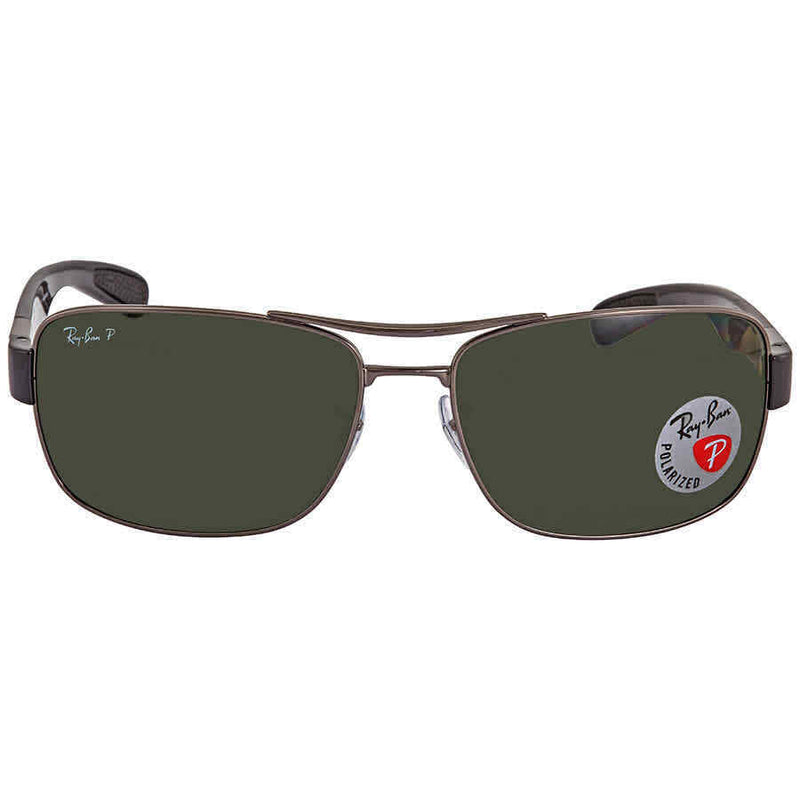 Ray Ban Polarized Green Classic G-15 Square Men's Sunglasses RB3522 004/9A 64