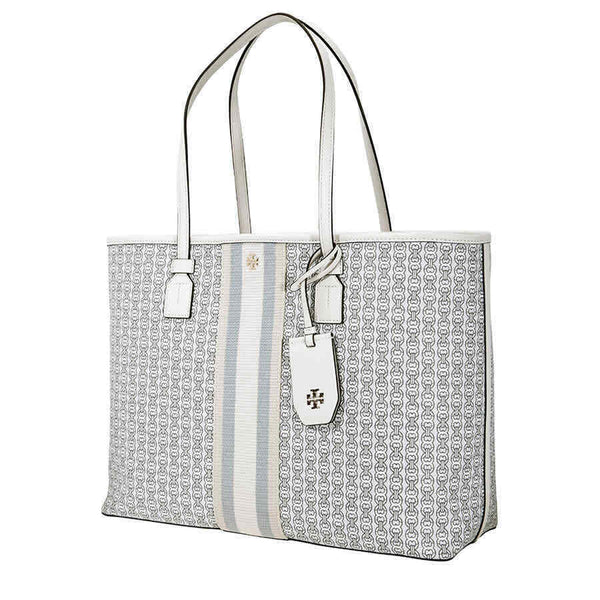Tory Burch Gemini Link Canvas Tote- New Ivory Gemini Link 53303-068