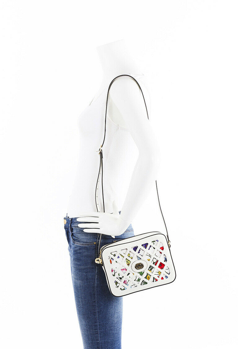 Gucci 2019 Small Cutout Floral Crossbody Bag