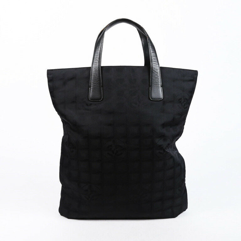 Chanel Bag Travel Ligne Black CC Nylon Tote