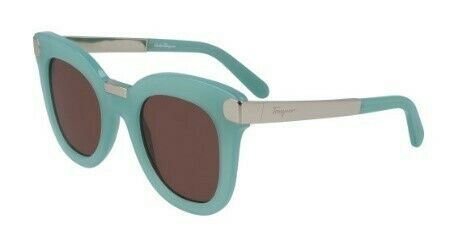Salvatore Ferragamo Rectangular Ladies Sunglasses SF967S/48/OPALINE MINT