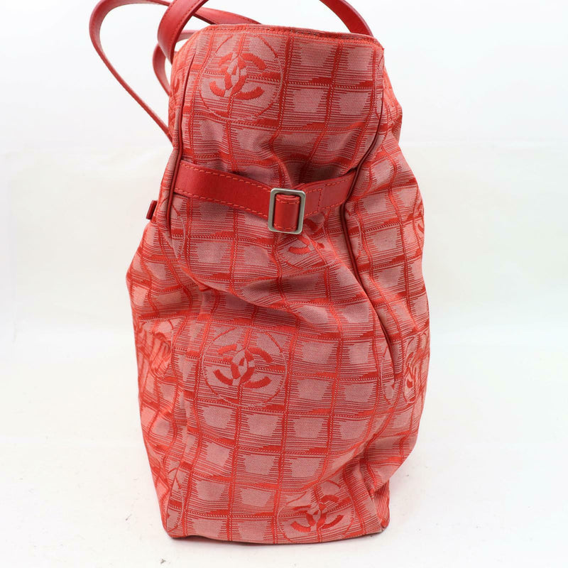 Authentic Tote Bag New Travel Line Gm Red Canvas (SHC1-15080)