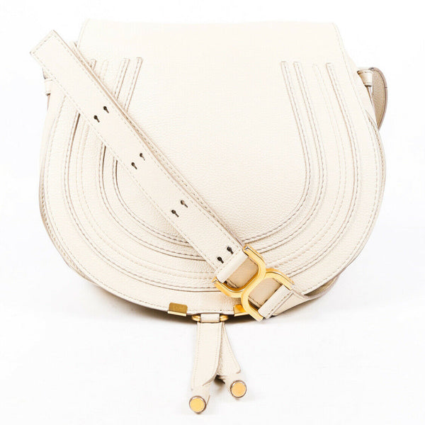 Chloe Bag Marcie Large Cream Leather Crossbody