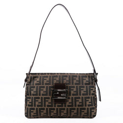 Fendi Shoulder Bag Zucca Brown FF Canvas
