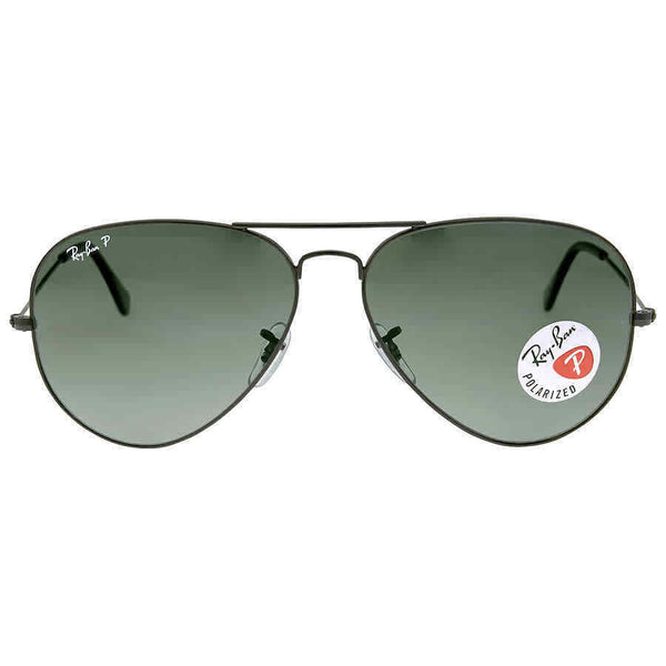 Ray Ban Aviator Classic Polarized Green Classic G-15 Sunglasses RB3025 002/58