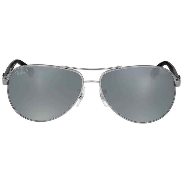 Ray Ban Polarized Silver Mirror Sunglasses RB8313 RB8313 004/K6 58