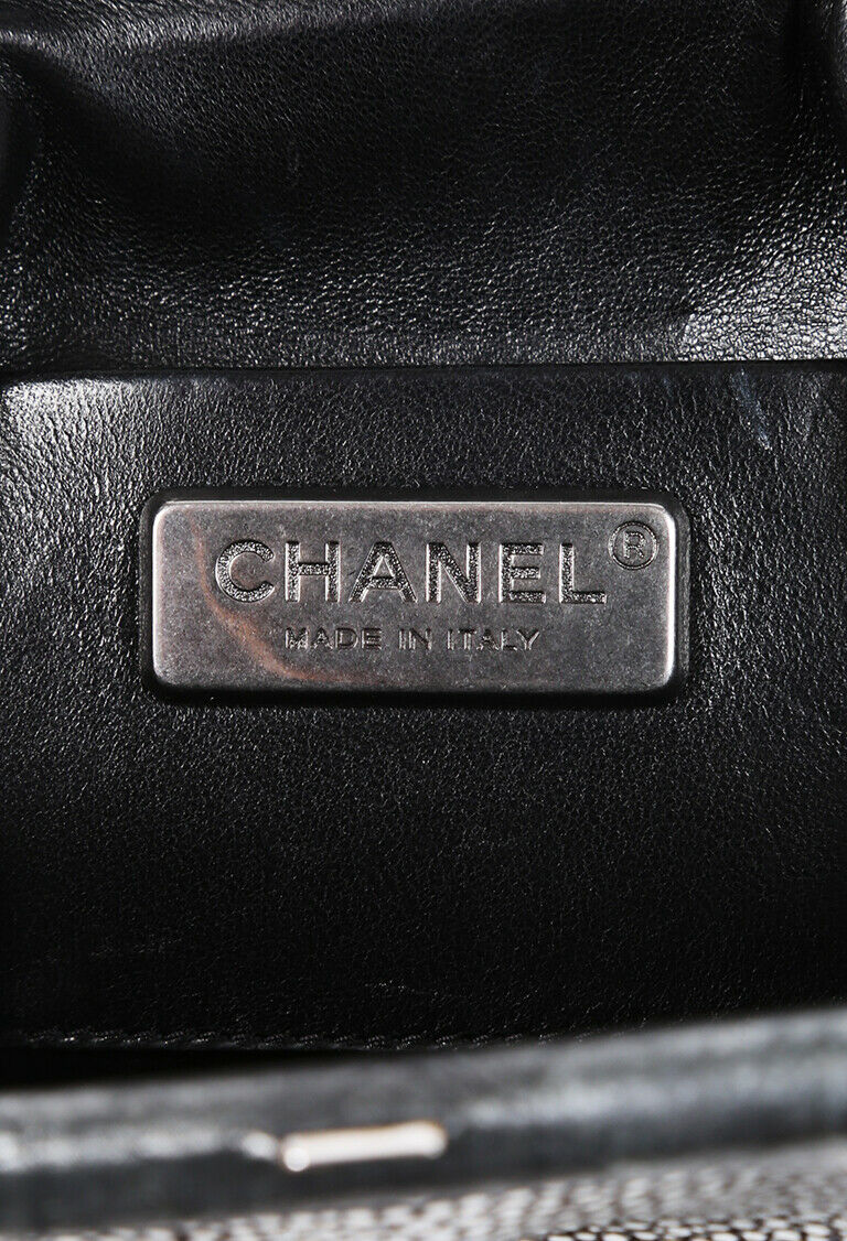 Chanel Bag Gray Stingray Frame Clutch