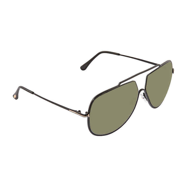 Tom Ford Chase Green Polarized Aviator Men's Sunglasses FT0586-01N