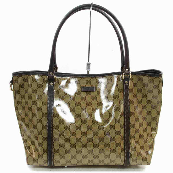 Gucci Tote Bag Light Brown PVC (SHC7-11114)