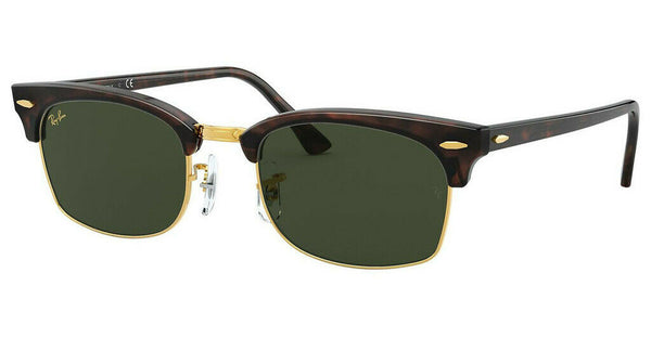 Ray Ban Clubmaster Green Classic G-15 Square Sunglasses RB3916 130431 52