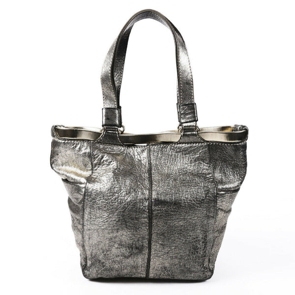 Jimmy Choo Metallic Leather Tote Bag