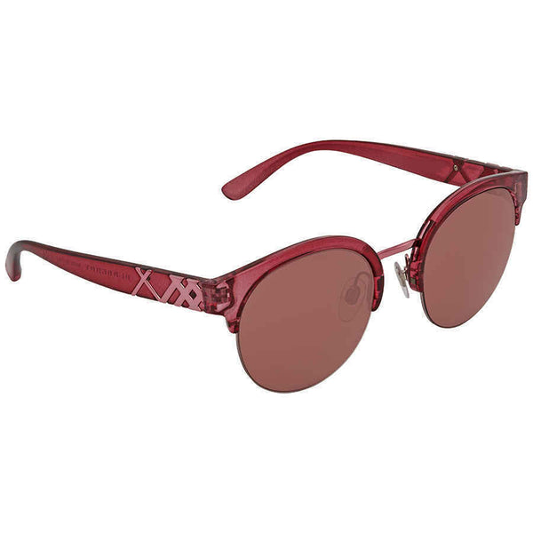 Burberry Round Bordeaux Sunglasses BE4241-367575-52 BE4241-367575-52