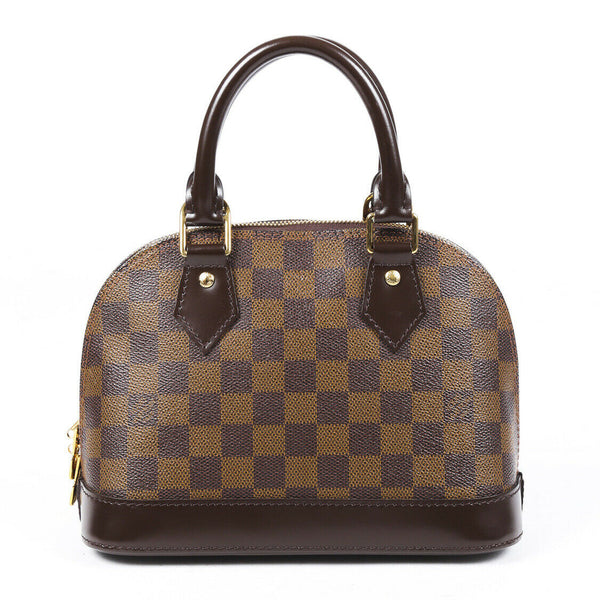 Louis Vuitton Alma BB Damier Ebene Satchel Bag