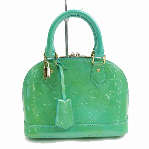 Louis Vuitton Hand Bag Almabb Bluelagon Green Vernis  (SHC1-16135)