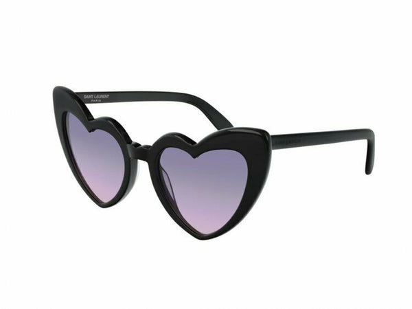 Saint Laurent Violet Gradient Oversized Heart-Shaped Sunglasses SL181LOULOU009