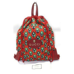 Authentic Gucci Back Pack Red Nylon (SHC7-11068)
