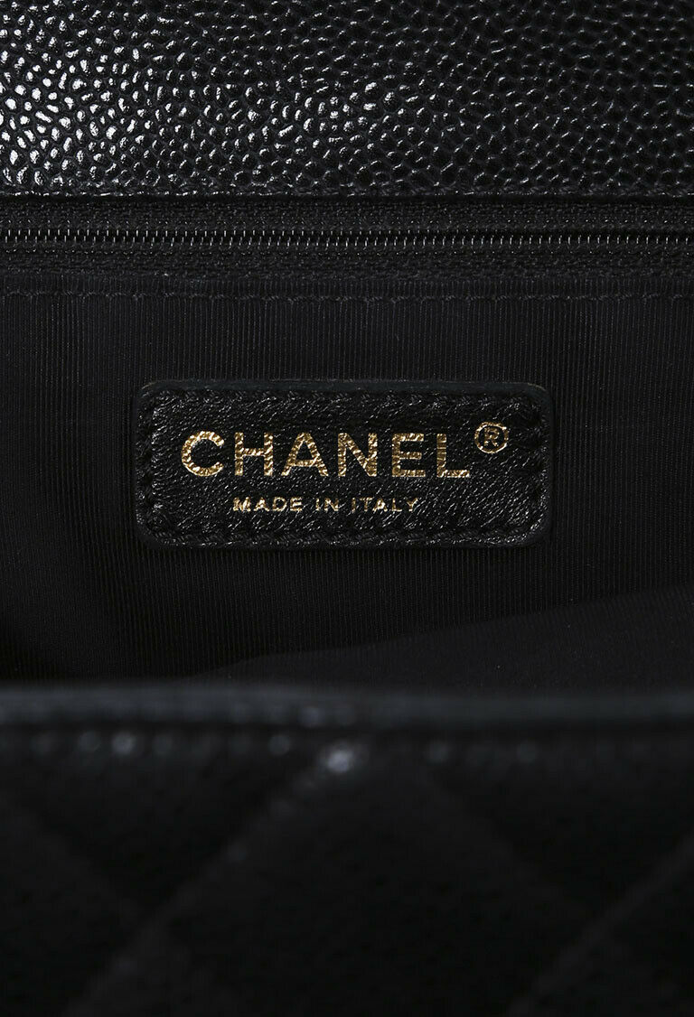 Chanel Quilted Caviar Grand Shopping Tote
