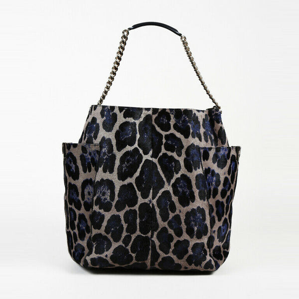 Jimmy Choo Animal Print Calf Hair Shoulder Bag