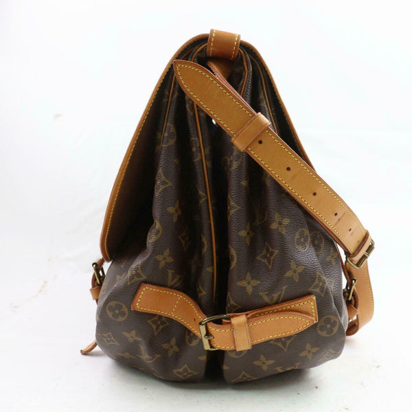 Louis Vuitton Shoulder Bag Saumur 43 Brown Monogram (SHC1-16104)