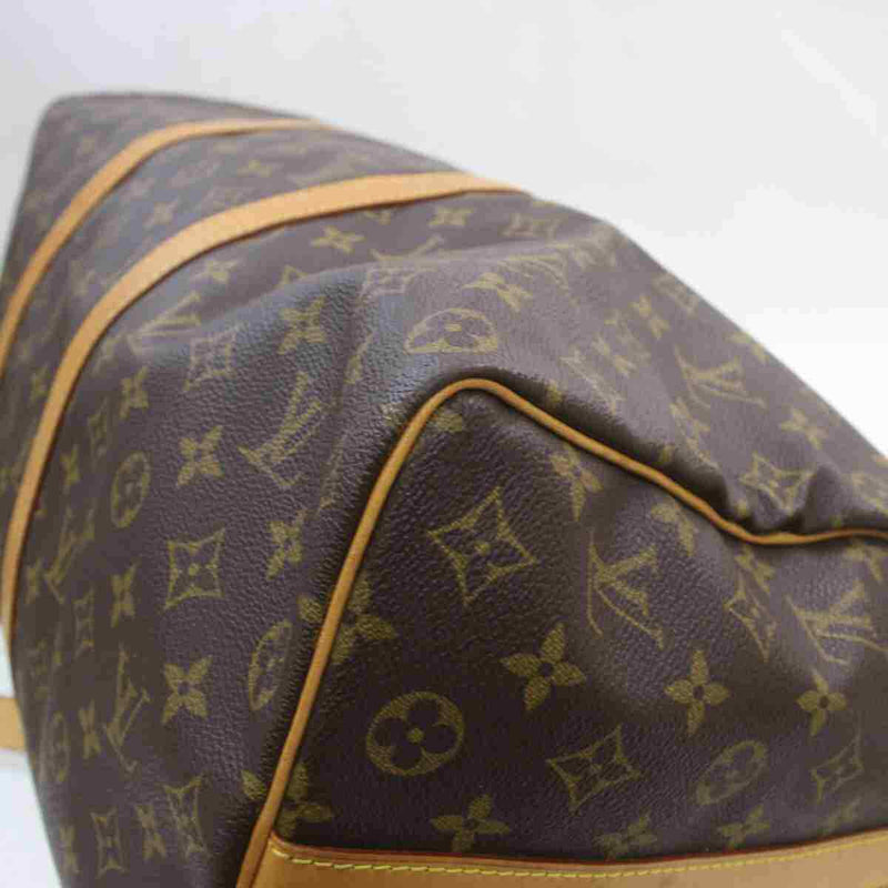 Louis Vuitton Hand Bag Keepall Bandouliere 50 Brown Monogram (SHC7-11117)
