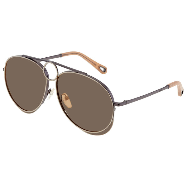 Chloe Brown Mirror Aviator Sunglasses CE144S 028 61 CE144S 028 61