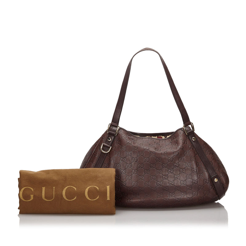 Pre-Loved Gucci Brown Dark Others Leather Guccissima Pelham Tote Italy