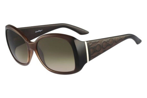 Salvatore Ferragamo Green Butterfly Ladies Sunglasses SF722S/58/BROWN
