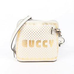 Gucci Bag Guccy Sega White Gold Leather Crossbody