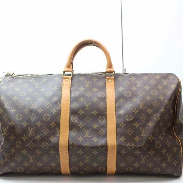 Louis Vuitton Boston Bag Keepall 55 Brown Monogram (SHC7-10780)