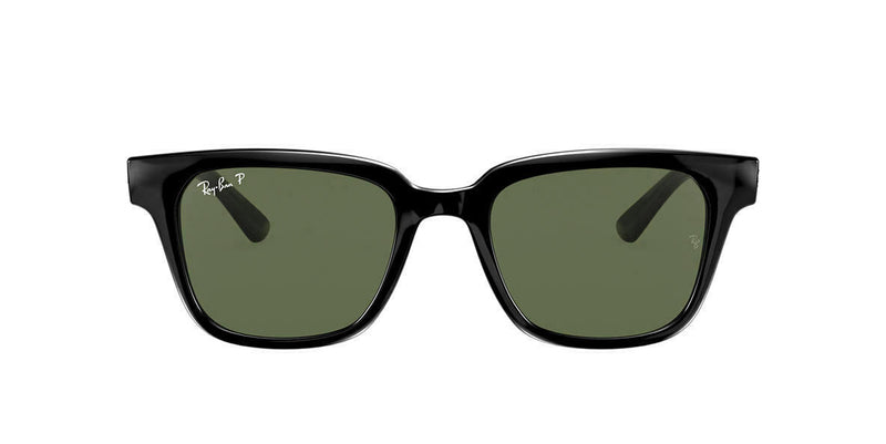 Ray Ban Polarized Green Classic G-15 Square Sunglasses RB4323 601/9A51