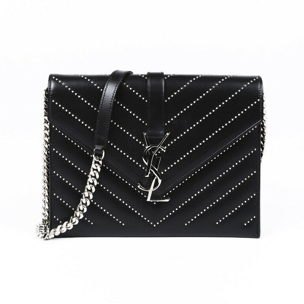 Saint Laurent Monogram Studded Shoulder Bag